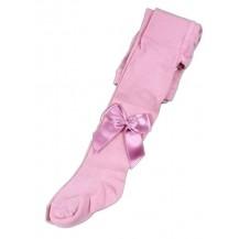 Leotardo liso lazo rodilla rosa viejo