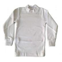Camiseta semicisne manga larga blanca
