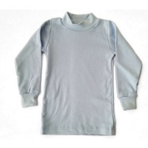 Camiseta semicisne manga larga azul claro