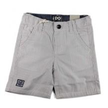Pantalón corto rayas gris y blanco