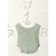 Conjunto blusa y bombacho estrellas verde agua