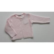 Chaqueta tricotosa primavera rosa