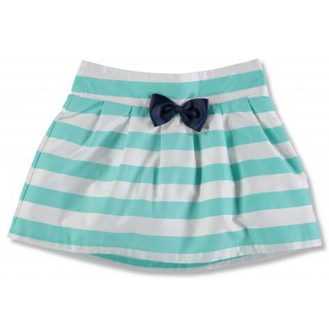 """Falda rayas verde y blanca """"Long Island"""""""