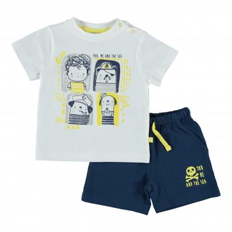 Conjunto croacia camiseta + bermuda marino