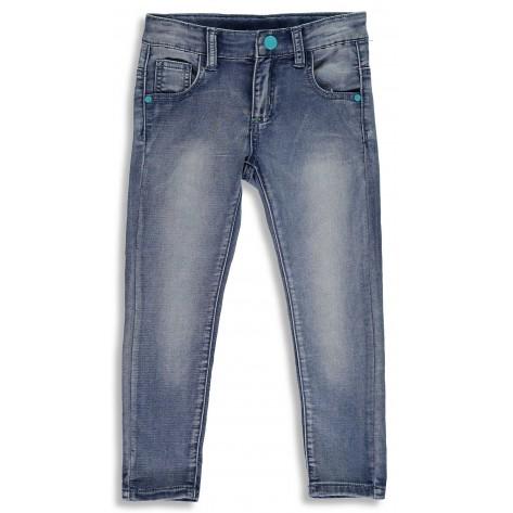 Pantalón vaquero largo botones azul
