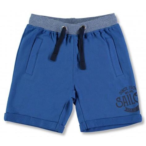 Bermuda niño algodón azul