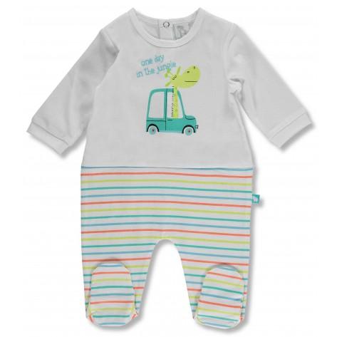 Pijama algodón jiraba colores manga larga