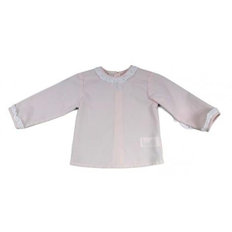 Blusa bebé m/l rosa