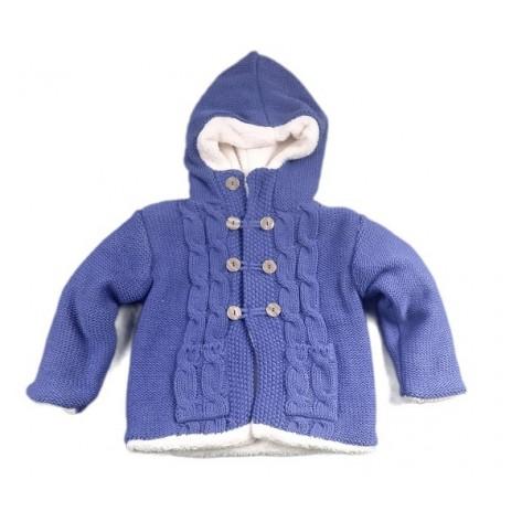 Chaquetón bebé forro polar azul azafata