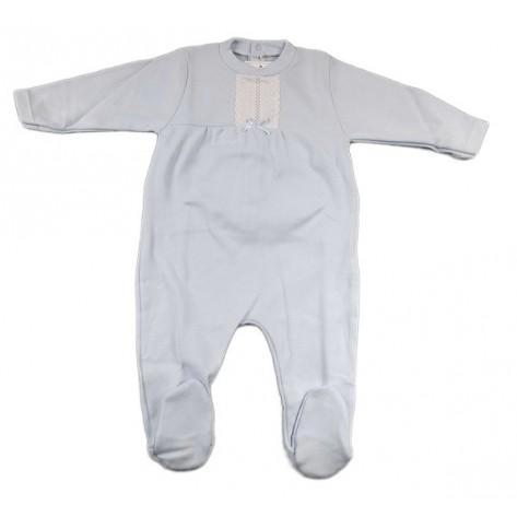 Pijama pelele algodón celeste m/l