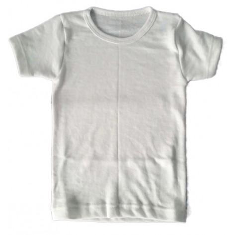Camiseta Interior manga corta blanca niño