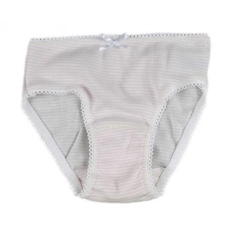 Braguita niña rayas rosa / blanco