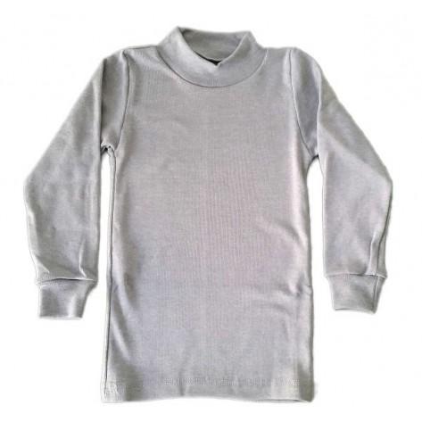 Camiseta semicisne manga larga gris