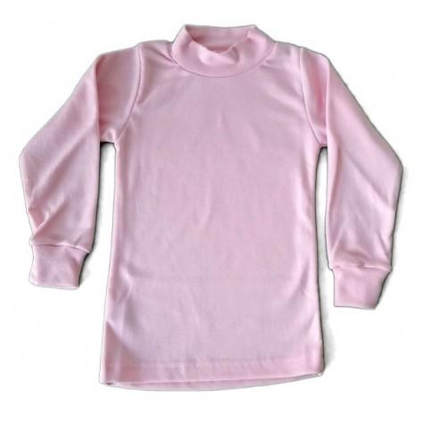 Camiseta semicisne manga larga rosa