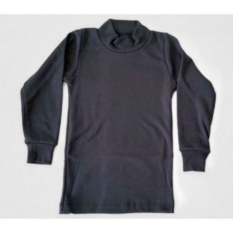 Camiseta semicisne manga larga marino