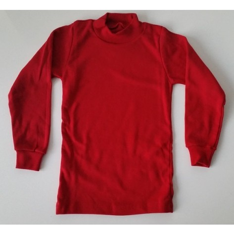 Camiseta semicisne manga larga rojo
