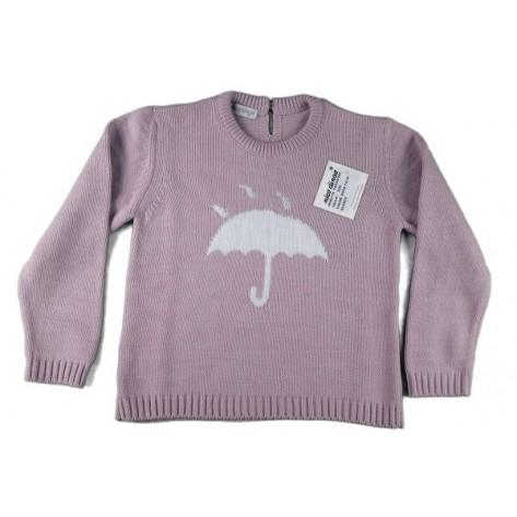 Jersey rosa palo con paraguas blanco