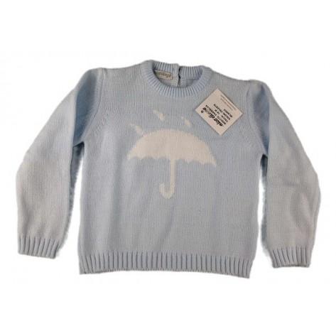 Jersey celeste con paraguas en blanco