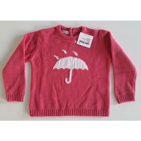 Jersey fucsia con paraguas en blanco