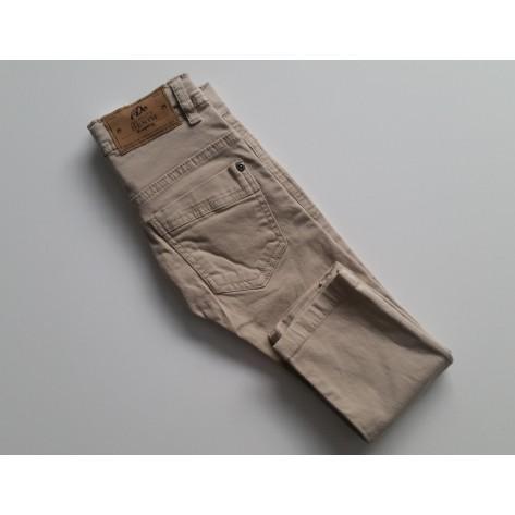 Pantalón vaquero largo beige