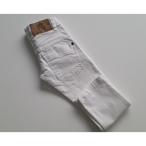 Pantalón vaquero largo blanco