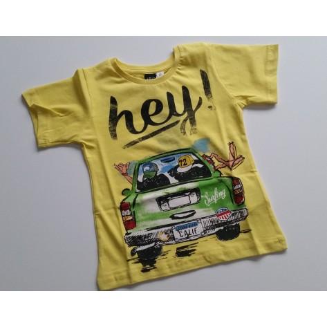 "Camiseta manga corta amarilla ""Hey"""