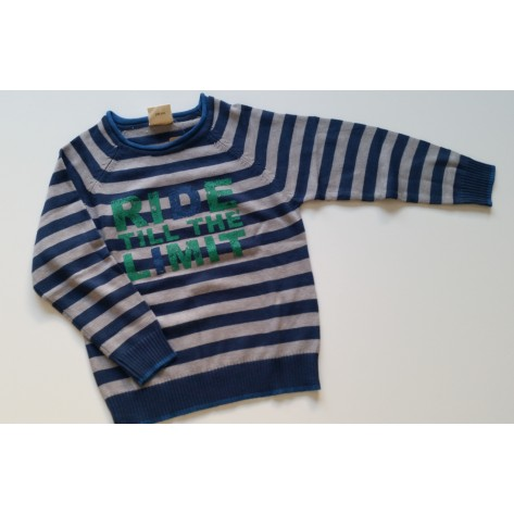 Jersey niño rayas azul, gris y verde