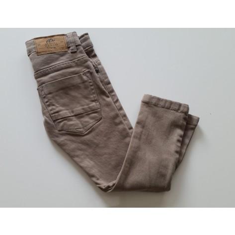 Pantalón largo vaquero beige oscuro