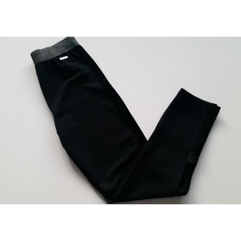 Leggins negro lateral terciopelo y cintura gris