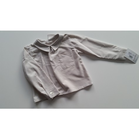 Camisa bolsillo cuello bebé pico