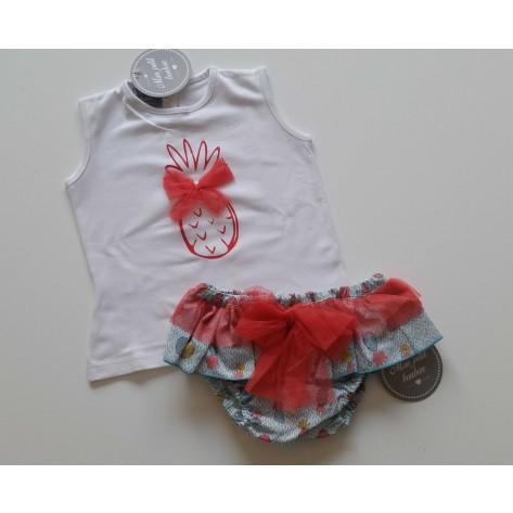 Conjunto braguita y camiseta piña