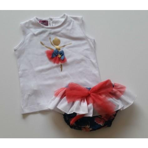 Conjunto braguita y camiseta bailarina