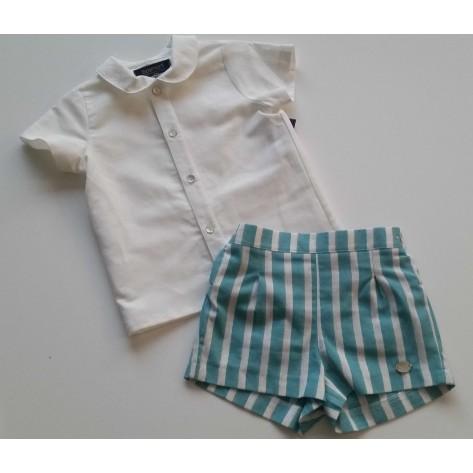 "Conjunto niño pantalón corto y blusa ""creta"""