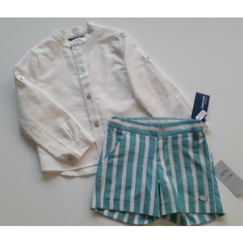 Conjunto bermuda y camisa colección Creta