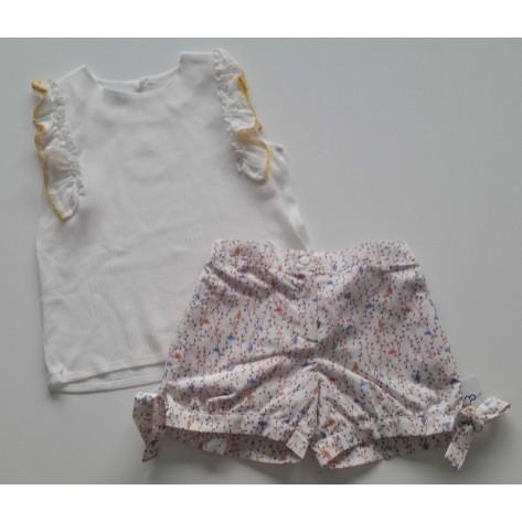 Conjunto niña pantalón corto y blusa pajaritos