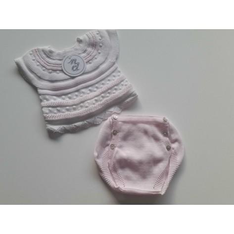 Conjunto corto dos piezas sueño rosa