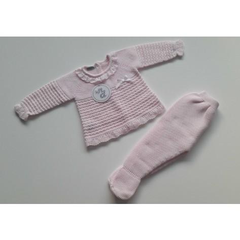 "Conjunto jersey y polaina primavera ""pasion"" rosa"