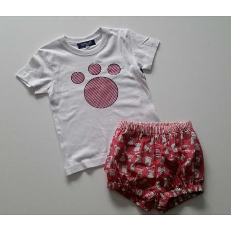 Conjunto niño mascotas bombacho y camiseta