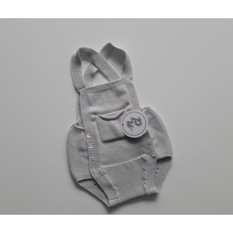 Peto bolsillos gris perla