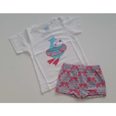 Conjunto boxer y camiseta barroca coral