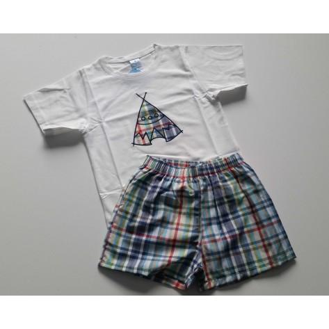 Conjunto boxer tela y camiseta apache