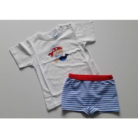 Conjunto boxer y camiseta nautic