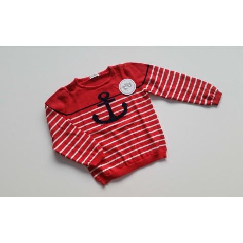 Jersey listado rojo ancla marino