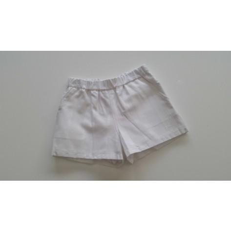 Short rayas blancas