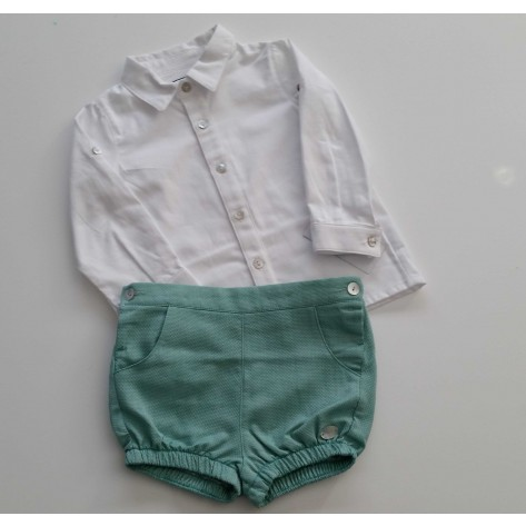 Conjunto bombacho y camisa colección aguamarina