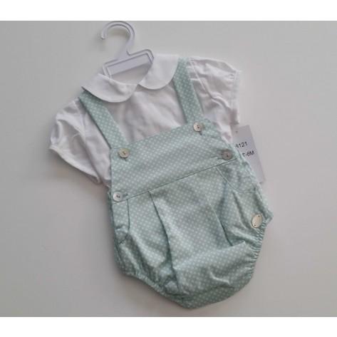 Peto + blusa colección aguamarina