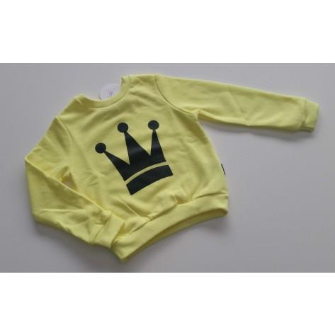 Sudadera niño amarilla fluor corona