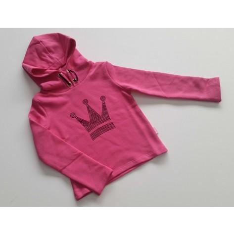 Sudadera niña rosa corona