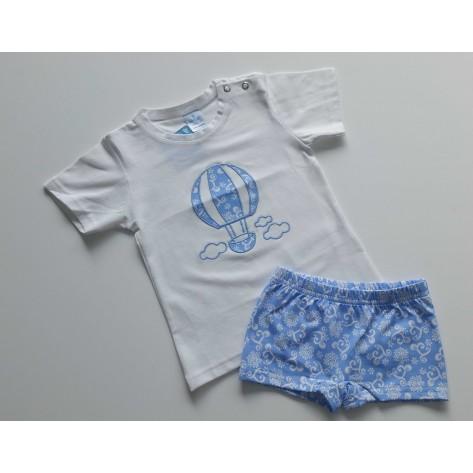 Conjunto boxer y camiseta fam. bali celeste