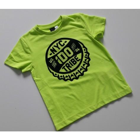 Camiseta manga corta tribe amarillo fluor